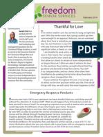 Freedom Senior Services- Feb. 2014 Newletter