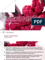Online Voting Project. New Developments in the Voting System An