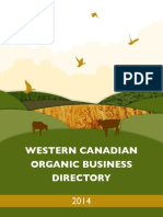 Western Canadian Organic Business Directory - 2014