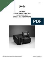 DR 4000 Manual Del Instrumento-Spanish (1)