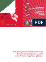 Instructivo para la implementación de espacios de participación juvenil
