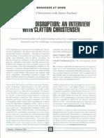 Managing Disruption c Christensen