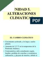 Unidad 5. Alteraciones climáticas