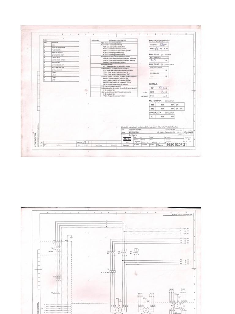 Planos Electricos Compresor Atlas Copco