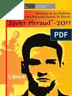 Antología de los finalistas del premio Javier Heraud