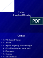 Unit 4 Sound and Hearing