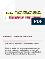 Database-Market Root Search Power Point Presentation