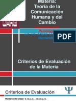 Teoria de La Com Hum y Del Cambio LP