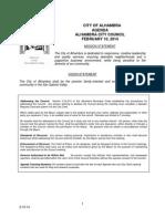 City Council Agenda 2/10/2014