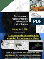 PV4º Unidad 4 - Percepción y representación del espacio y el volumen.