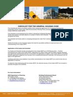 Nsw Housing Code Checklist