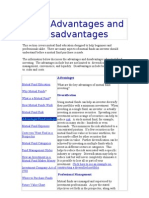 Fund Advantages and Disadvantages