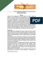 QUINTANILLA ACOSTA, Edwin y KAM PAREDES, Jacqueline TEMA Transparencia en procesos regulatorios evaluación del caso eléctrico peruano