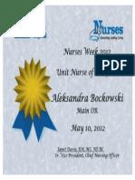 nurse of the year diploma
