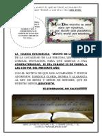 Invitacion de La Iglesia.