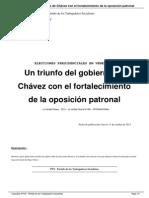Un Triunfo Del Gobierno de Chavez