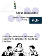 Group Discussions ppt