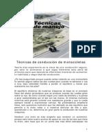 Tecnicas de Conduccion - MOTOS