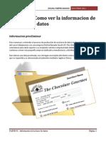 PARTE VI - Ver Informacion de Una Base de Datos