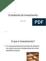 O ambiente de investimento cópia