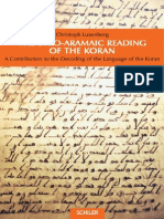 Cristoph Luxenberg. the Syro-Aramaic Reading of the Koran