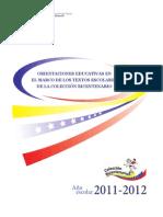 ORIENTACIONES EN EL MARCO DE LA COLECCIÓN BICENTENARIA PRIMARIA