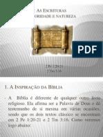 A Inspiração das Escrituras