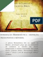 A Interpretação da Bíblia