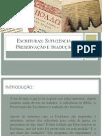 A Suficiência, preservação e tradução das Escrituras