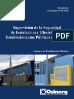 Seguridad en Instalaciones Electricas de Centros de Salud Del Peru
