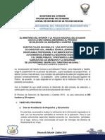 Indicaciones Cadete 2013
