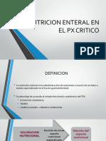 Nutricion Enteral en El Px Critico Uvm