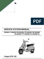 Vespa GTS125 Workshop Manual