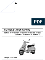 Vespa GTS125 Workshop Manual