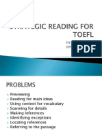 Strategic Reading for TOEFL