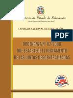 Ordenanza 02-2008 Reglamento Juntas Descentralizadas.pdf