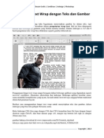 Pengaturan Text Wrap Dengan Teks Dan Gambar