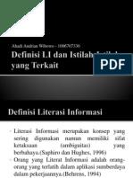 Definisi LI Dan Istilah-Istilah Yang Terkait Ahadi Andrian Wibowo New