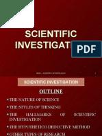 Lesson No 2 - Scientific Investigation
