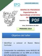Mapas de Progreso Primaria