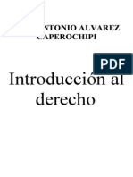ÁLVAREZ CAPÉROCHIPI. José Antonio, Introduccion al Derecho
