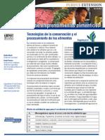 Tecnologia de La Conservacion y Procesamiento de Alimentos