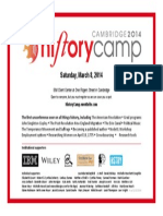 History Camp 2014 flyer - History Camp is the first barcamp on all things history