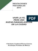 Orientaciones Pastorales 2013
