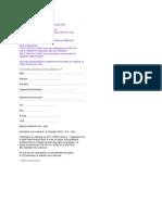 Formulaire Inscription 2009