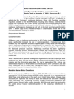 Diamond Fields International Limited 2008 President's Report to Shareholders, As