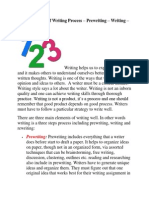 Top 3 Elements of Writing Process