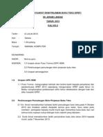 Minit Mesyuarat Skim Pinjaman Buku Teks 2013