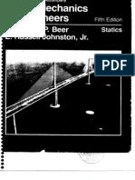 Vector Mechanics - Statics - F Beer & E Russel - 5th Edition Solution Book