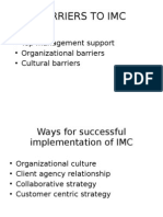 Barriers to Imc